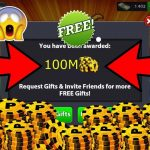 Get Free 100M Coins in 8 Ball Pool Game